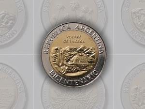 El Pucará de Tilcara en las nuevas monedas de 1 peso
